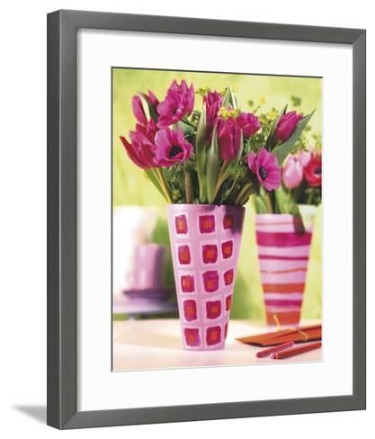 Decorated Vases--Framed Art Print