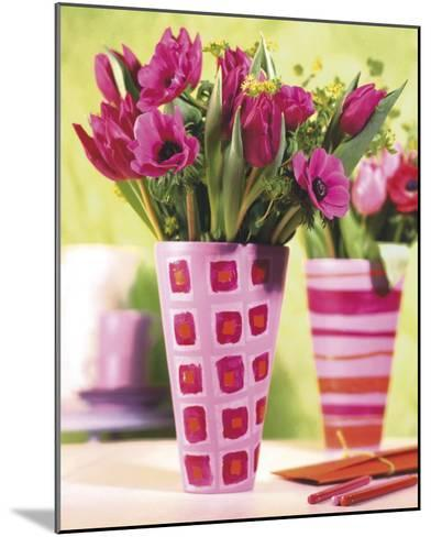 Decorated Vases--Mounted Art Print