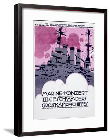 WWI, German Kriegsmarine Destroyer--Framed Art Print