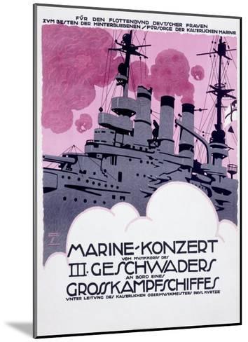 WWI, German Kriegsmarine Destroyer--Mounted Giclee Print