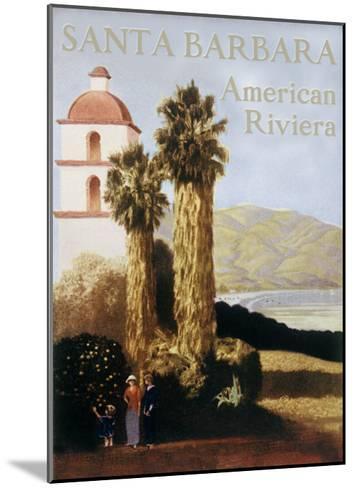 Santa Barbara American Riviera--Mounted Giclee Print