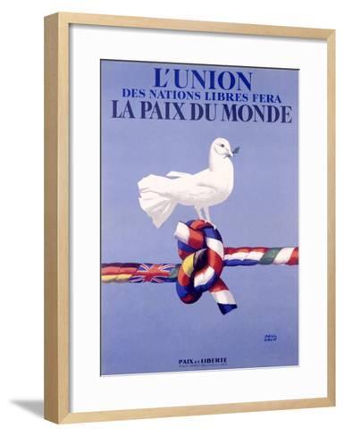 Labor Union Dove-Paul Colin-Framed Art Print