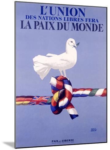Labor Union Dove-Paul Colin-Mounted Giclee Print