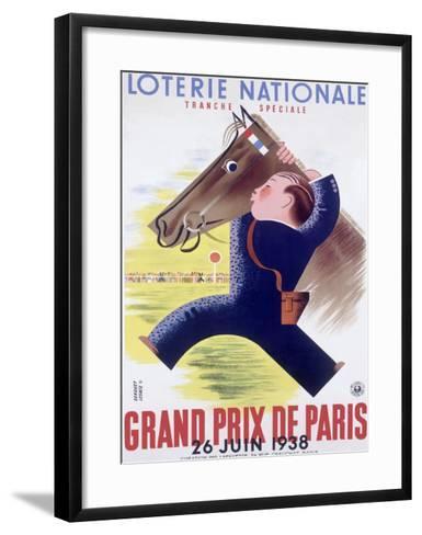 Grand Prix Horse Race, Paris--Framed Art Print