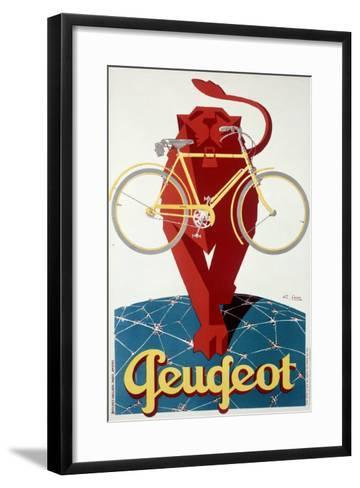 Peugeot Lion Bicycle--Framed Art Print