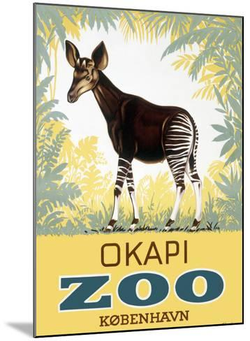 Okapi Copenhagen Zoo--Mounted Giclee Print