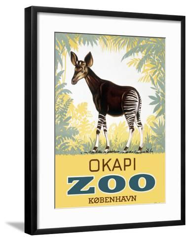 Okapi Copenhagen Zoo--Framed Art Print