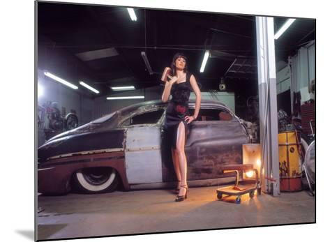 Pin-Up Girl: 1951 Chopped Mercury-David Perry-Mounted Giclee Print