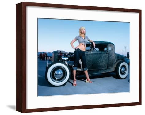 Pin-Up Girl: Deuce Coupe Rock a Billy-David Perry-Framed Art Print