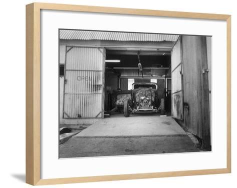 Rat Rod, Work Shop Garage-David Perry-Framed Art Print