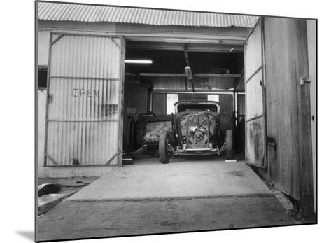 Rat Rod, Work Shop Garage-David Perry-Mounted Giclee Print