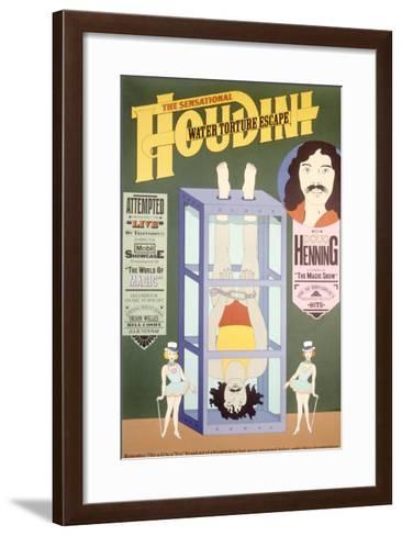Houdini, Water Torture Escape--Framed Art Print