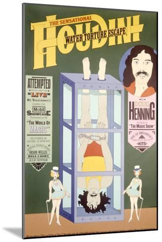 Houdini, Water Torture Escape--Mounted Giclee Print