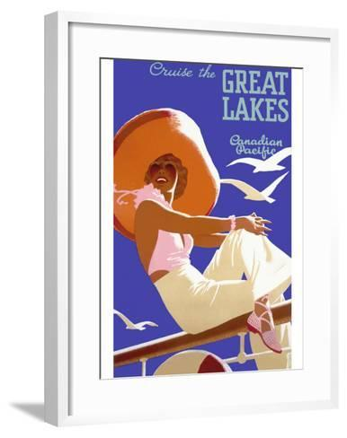 Canadian Pacific Great Lakes Cruise--Framed Art Print