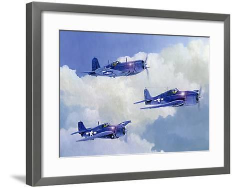 Navy Fighters of WWII-Douglas Castleman-Framed Art Print