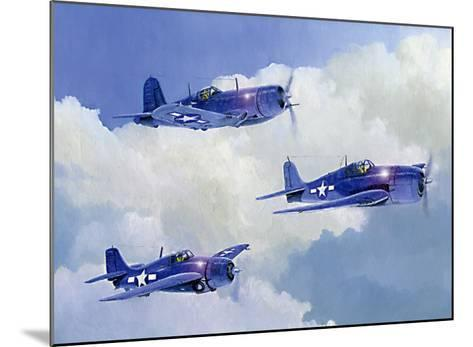Navy Fighters of WWII-Douglas Castleman-Mounted Giclee Print