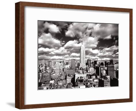 New York, New York, Sky Over Manhattan-Henri Silberman-Framed Art Print