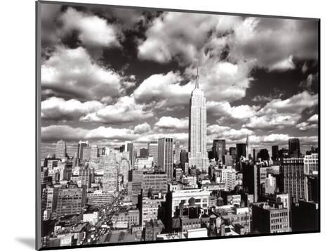 New York, New York, Sky Over Manhattan-Henri Silberman-Mounted Art Print