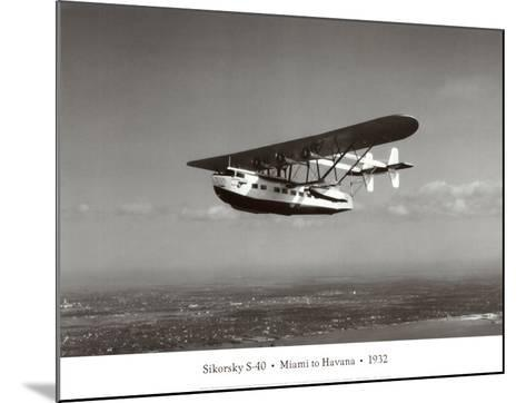 Sikorsky S-40, Miami to Havana, 1932-Clyde Sunderland-Mounted Art Print
