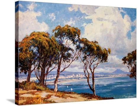 San Diego from Point Loma-John Comer-Stretched Canvas Print