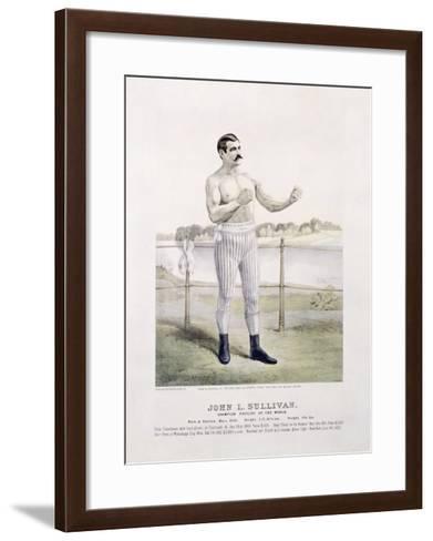 John L. Sullivan, Irish Boxer--Framed Art Print