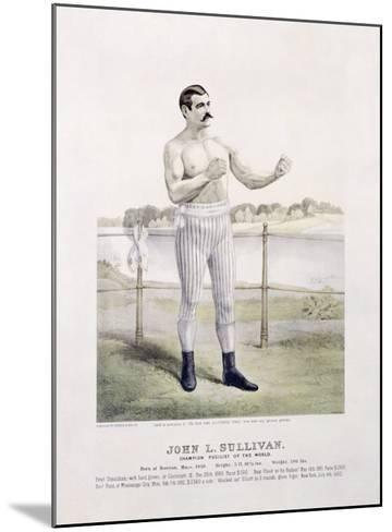 John L. Sullivan, Irish Boxer--Mounted Giclee Print
