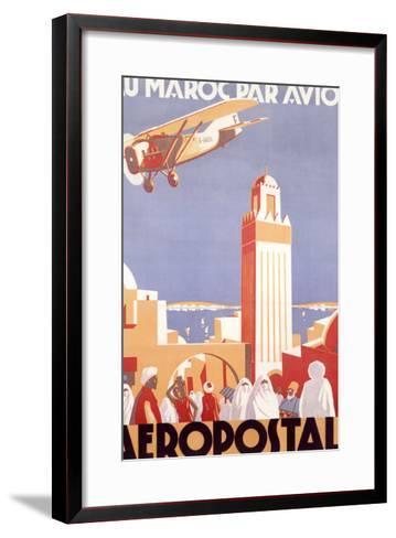 Marocco via Aeropostale Airline--Framed Art Print