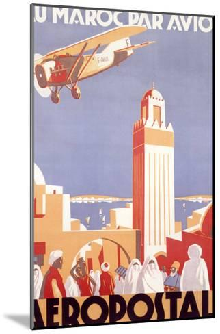 Marocco via Aeropostale Airline--Mounted Giclee Print