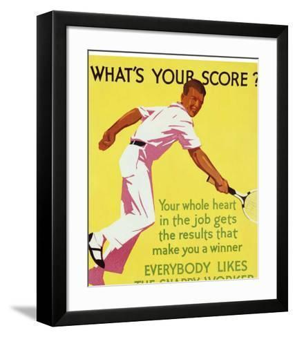 What's Your Score--Framed Art Print