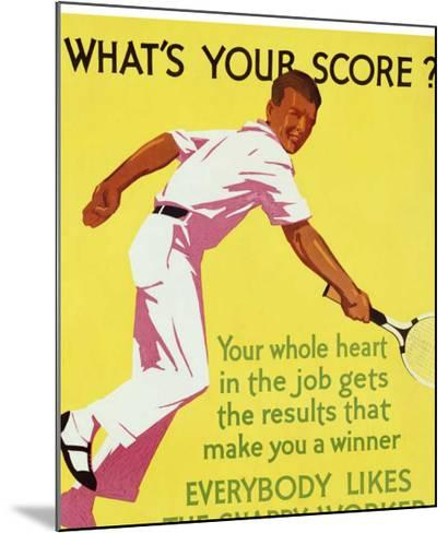 What's Your Score--Mounted Giclee Print