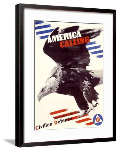 America Calling-Herbert Matter-Framed Art Print
