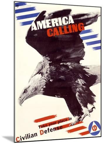 America Calling-Herbert Matter-Mounted Giclee Print