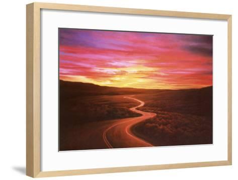 Challenge: Winding Road--Framed Art Print