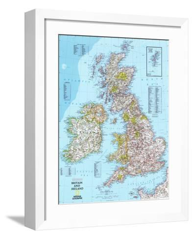 Map of Britain And Ireland--Framed Art Print