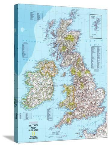 Map of Britain And Ireland--Stretched Canvas Print