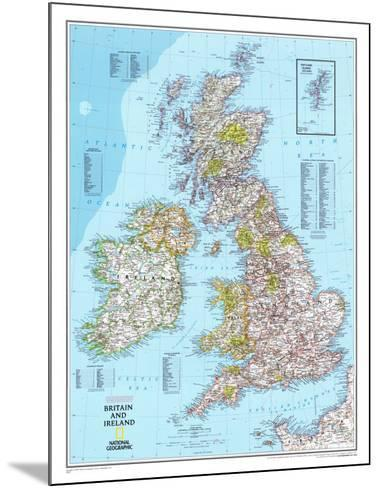 Map of Britain And Ireland--Mounted Poster