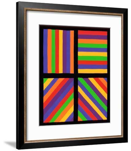 Color Bands in Four Directions, c.1999-Sol Lewitt-Framed Art Print
