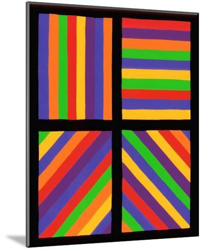 Color Bands in Four Directions, c.1999-Sol Lewitt-Mounted Premium Giclee Print