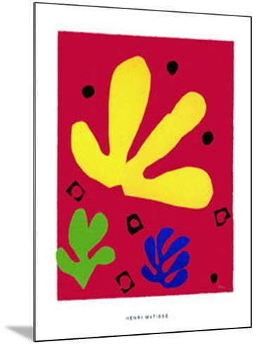 Elements Vegetaux, c.1947-Henri Matisse-Mounted Serigraph