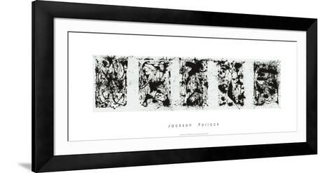 Black and White Polyptych-Jackson Pollock-Framed Art Print