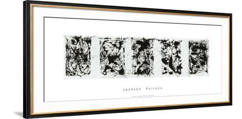 Black and White Polyptych-Jackson Pollock-Framed Art Print