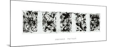 Black and White Polyptych-Jackson Pollock-Mounted Serigraph