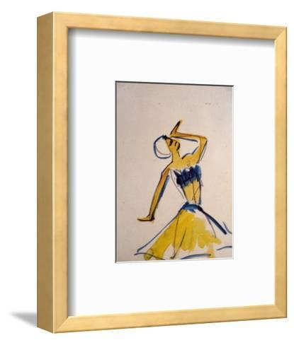 Dancing, c.1910-11-Ernst Ludwig Kirchner-Framed Art Print