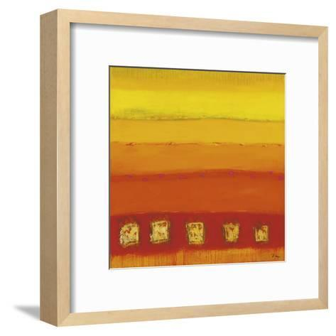 Red Train-Anke Ibe-Framed Art Print
