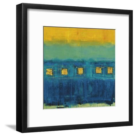 Blue Train-Anke Ibe-Framed Art Print