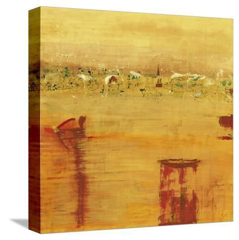 Orange Landscape-Rose Richter-armgart-Stretched Canvas Print