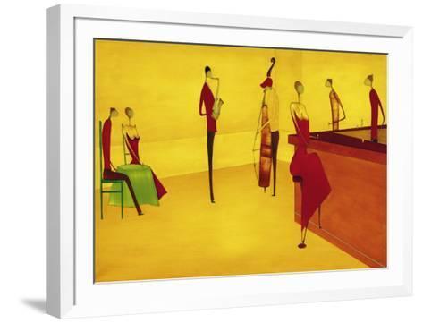 Bar Jazz-Thierry Ona-Framed Art Print