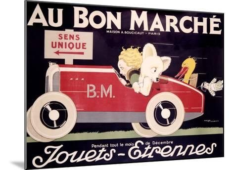 Childrens au Bon Marche Roadster--Mounted Giclee Print