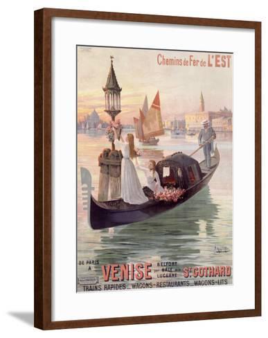 Venice, Italy, Gondola-Hugo D'Alesi-Framed Art Print