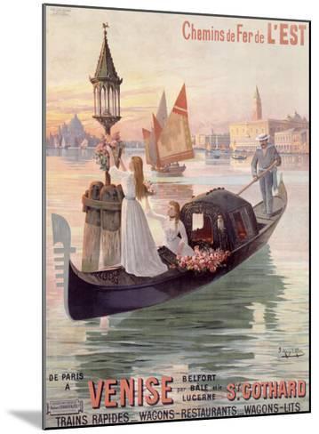 Venice, Italy, Gondola-Hugo D'Alesi-Mounted Giclee Print